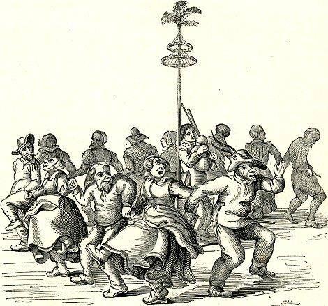 Meiboom versieren in de 17de eeuw