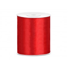 Satijn Lint Rood 100 mm