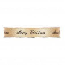 Goud Merry Christmas Kerstlint 15MM