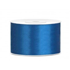 Blauw Satijn Lint 38 mm