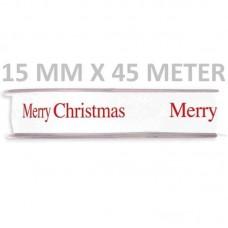 Kerstlint Merry Christmas 15 MM X 45 Meter