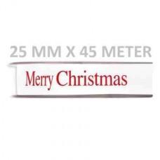 Kerstlint Merry Christmas 25 MM X 45 Meter