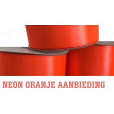 Neon Oranje Lint 5 Cm