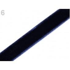 Fluweel Lint Donker Blauw 9 MM X 3 Meter