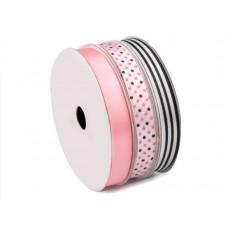 Decoratief Lint Mix Roze Zwart