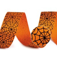 Spinnenweb Halloween Grosgrain Lint