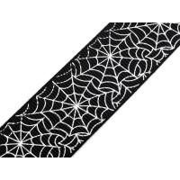 Spinnenweb Halloween Grosgrain Lint Zwart