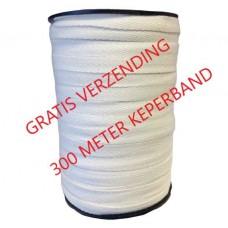 Keperband Ongebleekt 10 MM Klos 300 Meter