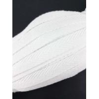 Visgraat Katoenen Keperband 10MM / 50M Wit