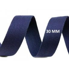 Keperband Parijs Blauw 30 MM