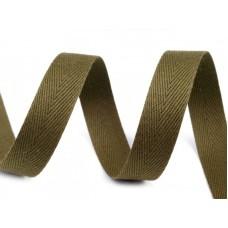 Groen Keperband Olijf 14 MM