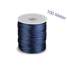 Satijn Koord Donker Blauw 1 MM