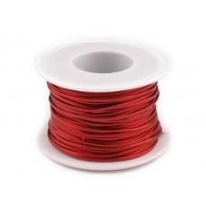 Glanzend Rood Kunst Leren Koord  1.5 mm