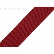 Tassenband Polypropyleen Licht Wijn Rood 30 MM