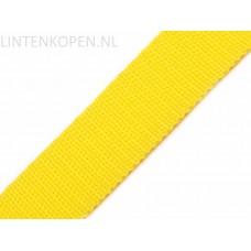 Tassenband Polypropyleen Geel 30 MM