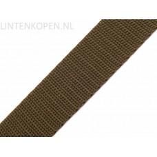 Tassenband Polypropyleen Kaki Groen30 MM