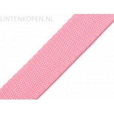 Tassenband Polypropyleen Licht Roze 30 MM