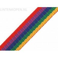 Tassenband Polypropyleen Multi Kleuren 30 MM