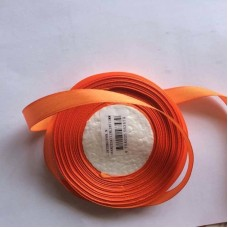 Wortel Oranje Satijn Lint 12 mm