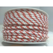 Wit Rood Koord 2.2 MM X 25 Meter