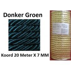 20 Meter Donker Groen Satijn Koord