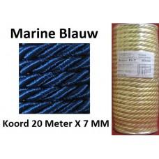 20 Meter Donker Blauw Satijn Koord