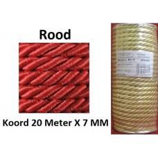 20 Meter Rood Satijn Koord