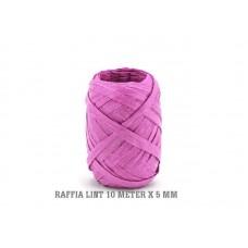 Raffia Lint Donker Roze