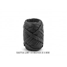 Raffia Lint Zwart