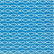 20 Servetten Vis Blauw