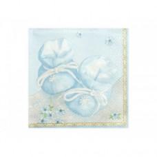 Geboorte Servet Blauw