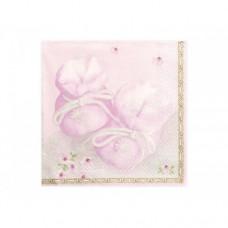 Geboorte Servet Roze