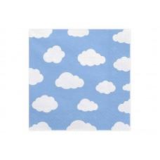 Servet Blauwe Wolken
