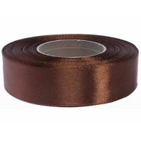 Donker Bruin Satijn Lint 25 mm