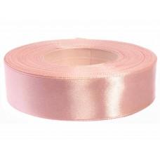 Donker Poeder Roze Satijn Lint 25 MM
