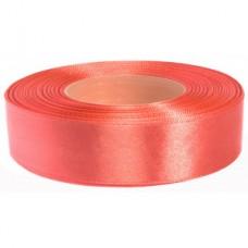 Licht Koraal Roze Satijn Lint 25 mm