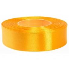 Licht Oranje Amber Satijn Lint 25 mm