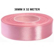 Heide Roze Satijn Lint 38 MM