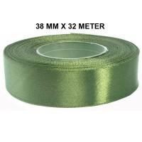 Kaki Rot Groen Satijn Lint 38 mm