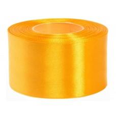 Licht Oranje Amber Satijn Lint 50 MM Rol 32 Meter