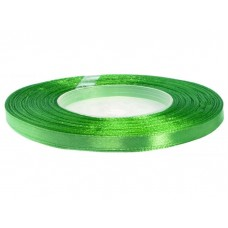 Satijn Lint Helder Groen 6 MM X 25 Meter