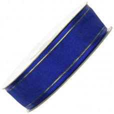 Organza lint granaat blauw