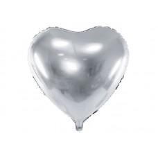 Grote Zilveren Hart Ballon