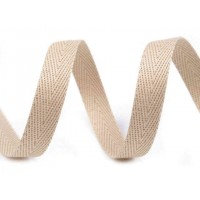 10 MM Breed Keperband  Beige