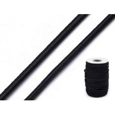 Zwart Elastiek Rond 3 MM | 5 Meter