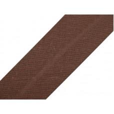 Bias Band 20 MM X 25 Meter Katoen Chocolade Bruin