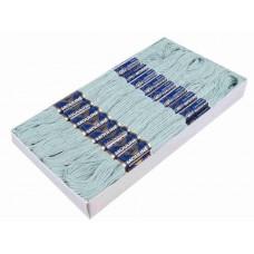 Blauw Glazuur Borduurgaren 6 Strengen X 8 Meter