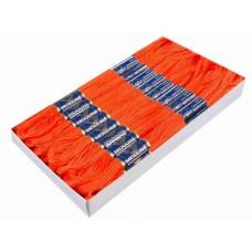 Rood Oranje Borduurgaren 6 Strengen X 8 Meter