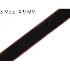 Bruin 9 MM X 3 Meter Fluweel Lint