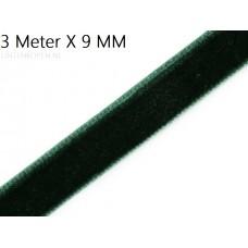 Donker Groen 9 MM X 3 Meter Fluweel Lint